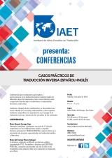 9 de junio de 2018: Conferencias sobre casos prácticos de traducción inversa español>inglés